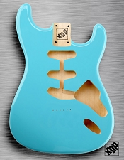 XGP Professional Double Cutaway Body Daphne Blue Hardtail!