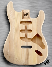 XGP Professional Double Cutaway Body Unfinished Solid Swamp Ash