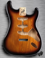 XGP Professional Double Cutaway Body Vintage Sunburst Solid Swamp Ash