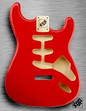 XGP Professional Double Cutaway Body Fiesta Red