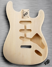 XGP Professional Strat Body Unfinished White Poplar
