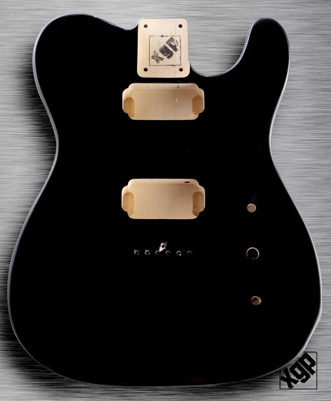 xgp professional single cutaway body 2 humbuckers gloss black. Black Bedroom Furniture Sets. Home Design Ideas