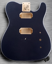 XGP Professional Tele® Body 2 Humbuckers Charcoal Grey Metallic