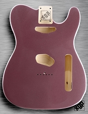 XGP Professional Tele Body Burgundy Mist Metallic