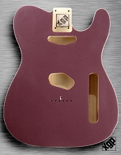 XGP Professional Double Bound Tele Body Burgundy Mist Metallic
