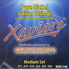 Xaviere Pure Nickel Strings Medium Gauge