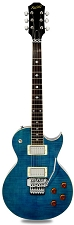NEW! XV555 Double Locking Tremolo Carved Top LP Ocean Blue Flamed Maple