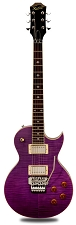 NEW! XV555 Double Locking Tremolo Carved Top LP Transparent Purple