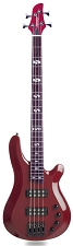 DLX Bass Active Preamp, Carved Body,  24 Fret Dakota Red