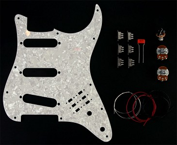 BHM Style Series/Phase Swithcing Kit White Pearloid Pickguard