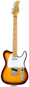 XV-835 Flamed maple top Solid Woods Vintage Sunburst Maple Fingerboard