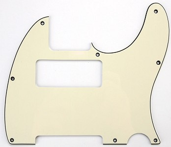 "Tele Neck P90 Pickguard- ""1964 Aged White"""