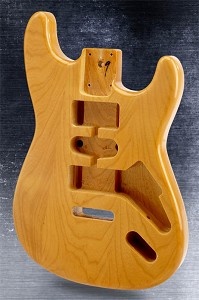 Double-Cutaway Body HSH SOLID ASH Vintage Natural Finish
