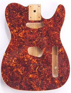 Mother of Pearl Tele Body Tortoiseshell Celluloid, Cream Binding, Single Coil Routed