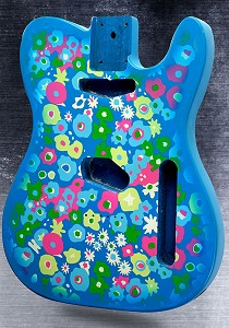 Blue Flower Lightweight Vintage Telecaster Style Body