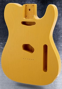 "Single-Cutaway Style Body SOLID USA ASH ""Vintage Butterscotch"" finish"