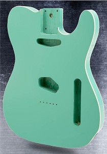 Lightweight Double Bound Telecaster Style Body Seafoam Green