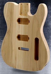 Unfinished Tele Style Body Solid White Poplar Tremolo