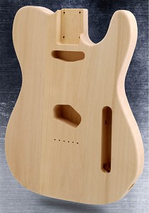Unfinished Tele Style Body Solid White Poplar