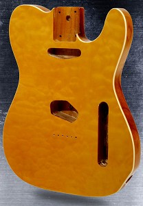 Telecaster Style body Quilt maple top with binding Vintage Natural