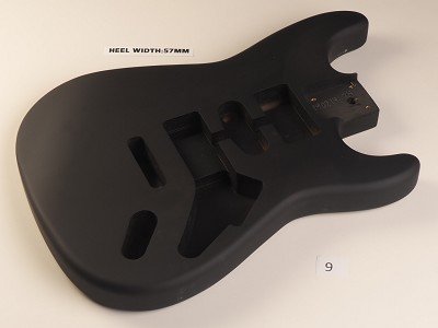 Lightweight Matte Black Strat® Style Body- HSH pickups - Vintage Tremelo