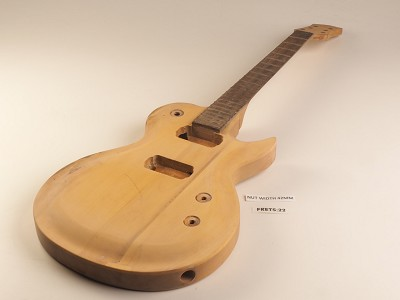 Unfinished Single Cutaway Style Guitar Rosewood Fret Board 2 Humbucker 22 Frets As Is Guitar