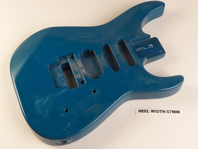 "Blue ""Dinky"" Style Body S/S/H Pickup Rout Floyd® Trem Rout"