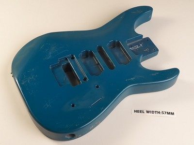 Blue Double Cutaway Style Body H/L/HPickup Routs Floyd® Trem Rout