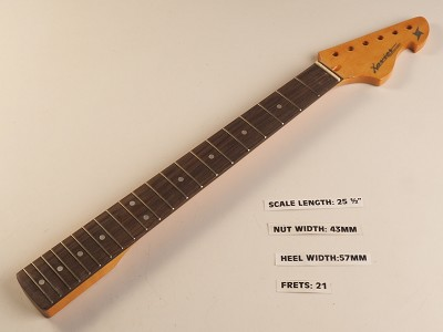 Double Cutaway Style Rosewood 21 Fret Neck