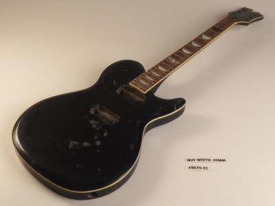 Black Single Cutaway Guitar Rosewood Fret board 22 Fret As Is Guitar Slight Twist In Neck