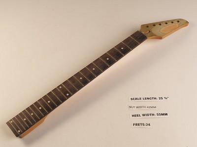 Unfinished Dinky Style Rosewood 24 Fret Neck