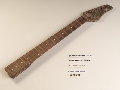 Single Cutaway Camo Rosewood 22 Fret Neck