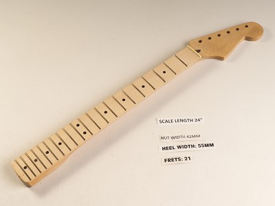 Double Cutaway Style Maple 21 Fret Neck
