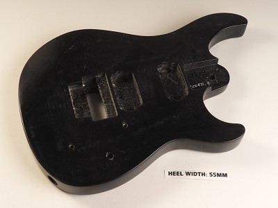 Black Double Cutaway Style Body 2HB Floyd® Trem Rout