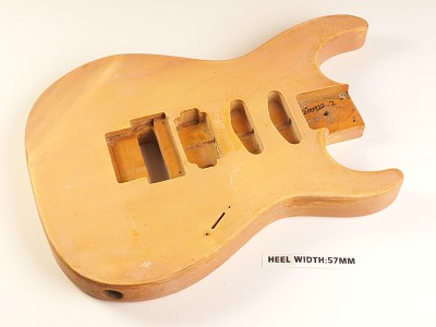 Unfinished Double Cutaway Style Body H/S/S Floyd® Style Trem Rout
