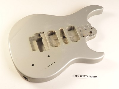Silver Double Cutaway Style Body H/S/H Floyd® Style Trem Rout