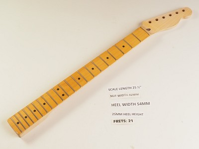 Single Cutaway Style Maple 21 Fret Neck