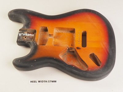 LEFTY Sunburst Double Cutaway Style Body Partial Swimming Pool Rout Vintage Style Trem Rout