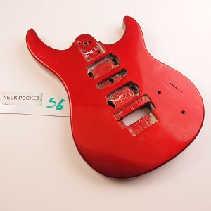 Gloss Finished, Metallic Rocket Red, Double Cutway Body, HSH