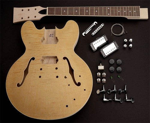 Admirable 335 Set Neck Kit Flamed Maple Bound Rosewood Fingerboard Wiring Cloud Hisonuggs Outletorg