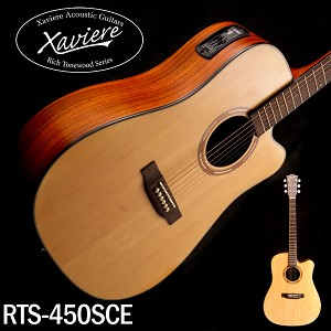 Xaviere ALL WOOD Electric Cutaway Dreadnaught Solid Spruce Top Zebrawood