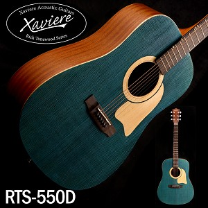 Xaviere ALL WOOD Raised Grain Dreadnaught Blue Spruce Top
