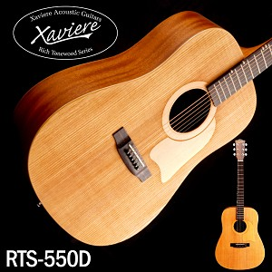 Xaviere ALL WOOD Raised Grain Dreadnaught Amber Spruce Top