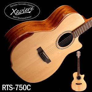 Black Walnut Xaviere ALL WOOD Premium Cutaway Solid Spruce Top