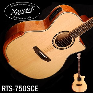 Flamed Maple Xaviere ALL WOOD Premium Acoustic/electric Cutaway Solid Spruce Top