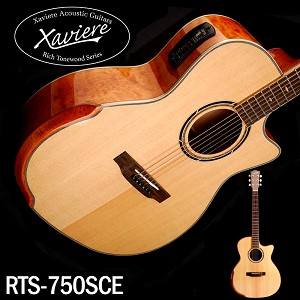 Quilt Maple Xaviere ALL WOOD Premium Acoustic/electric Cutaway Solid Spruce Top