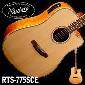 Quilted Maple Dreadnaught Xaviere Alaskan Spruce Top cutaway Acoustic/Electric