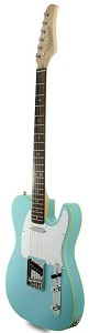 XV840 Solid Alder DOUBLE Bound Body, Sonic Blue, Rosewood Fingerboard