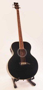 Dean EAB Acoustic-Electric Bass - Classic Black - Dean Preamp- Barely Used