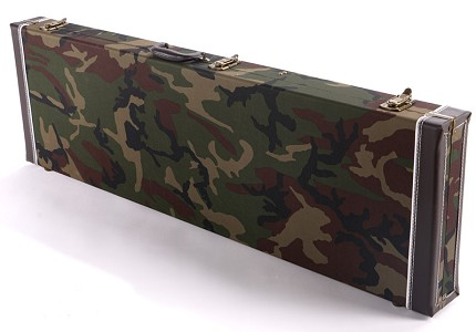 "PREMIUM Cloth ""WWII"" Camo  P/J Bass Hardshell  Case-  Our Best!"